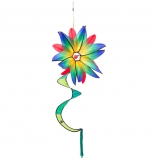 Větrník Swinging Flower Blue Gradient